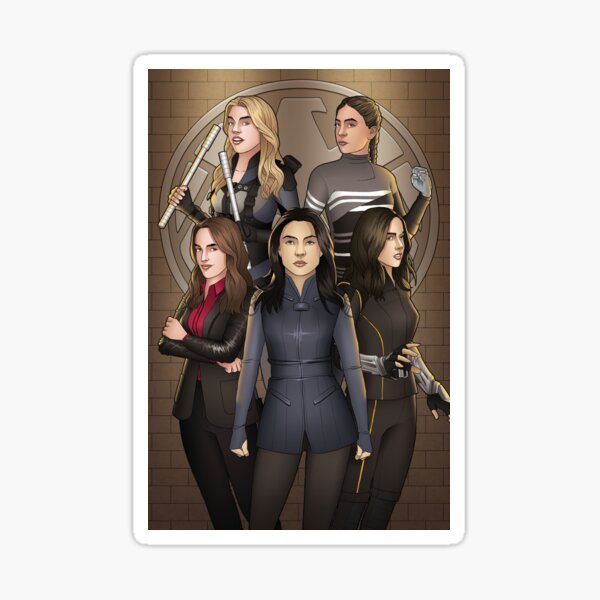 Agent Ladies Group Sticker