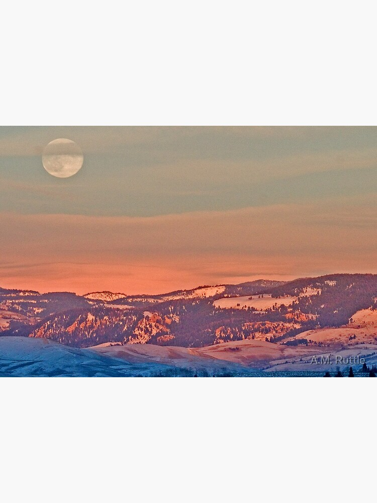 Moonrise Over Jackson Hole by annruttle