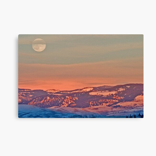 Moonrise Over Jackson Hole Canvas Print