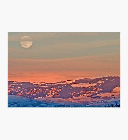 Moonrise Over Jackson Hole Photographic Print