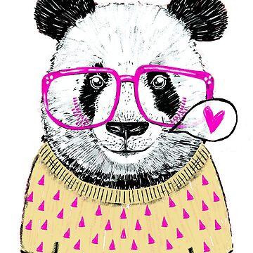 Cute Geek Panda by metaminas