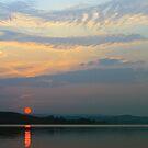 Hazy Sunset at Derwent Reservoir by David Lewins