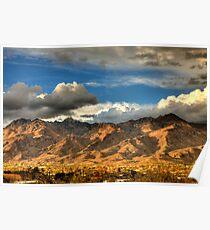 Sunset on Catalina Mountains, Tucson AZ Poster