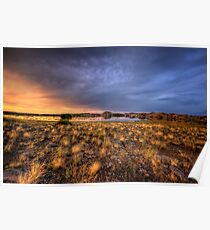 Sunset Over Willow Lake Poster