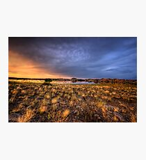 Sunset Over Willow Lake Photographic Print
