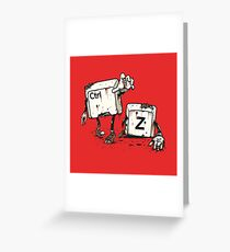 Walking Undoead Greeting Card