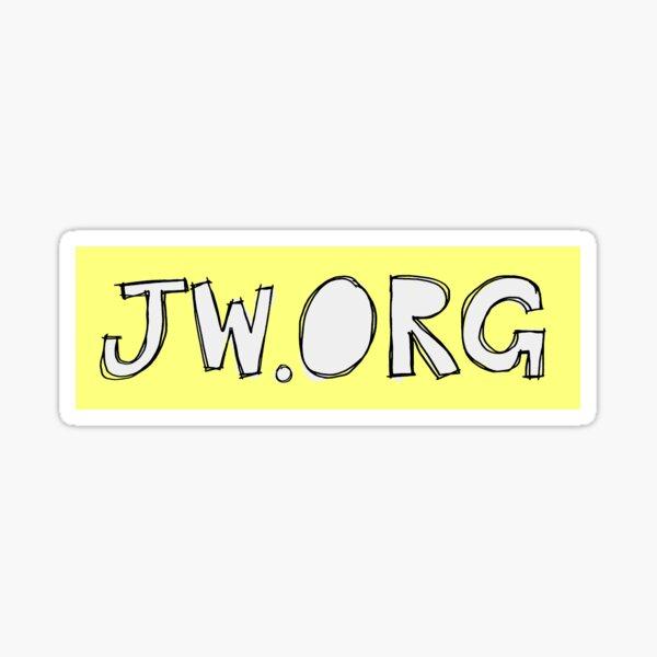 JW.ORG Joli Design Jaune Sticker