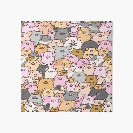 Pigs, Piglets & A Swine! Art Board Print