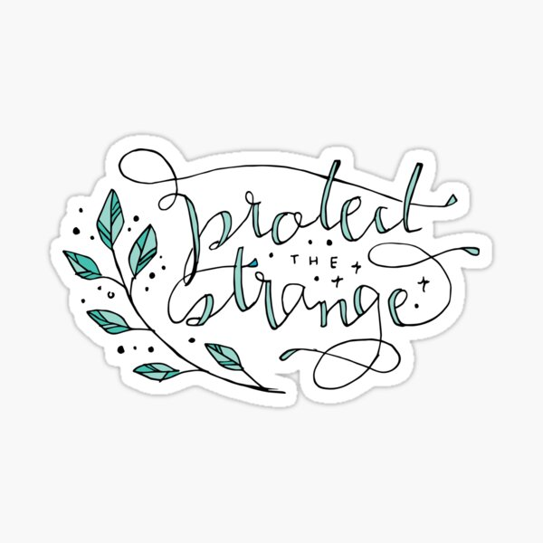 protect the strange Sticker
