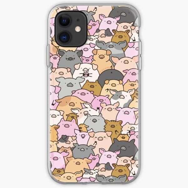 Pigs, Piglets & A Swine! iPhone Soft Case