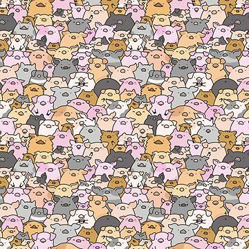 Cerdos, lechones y un cerdo! de KiraKiraDoodles