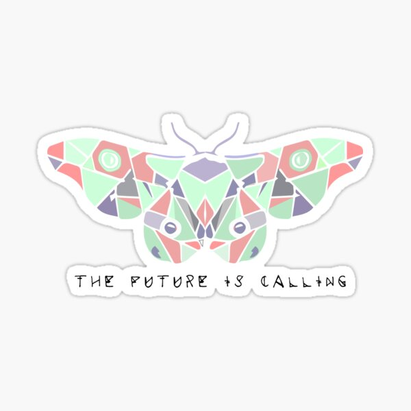 the future is calling moth Sticker