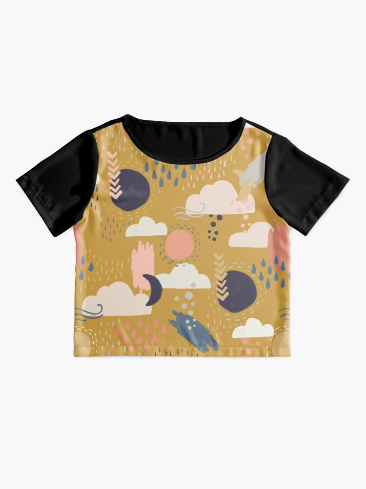 Alternate view of Abstract Weather - Gold Chiffon Top