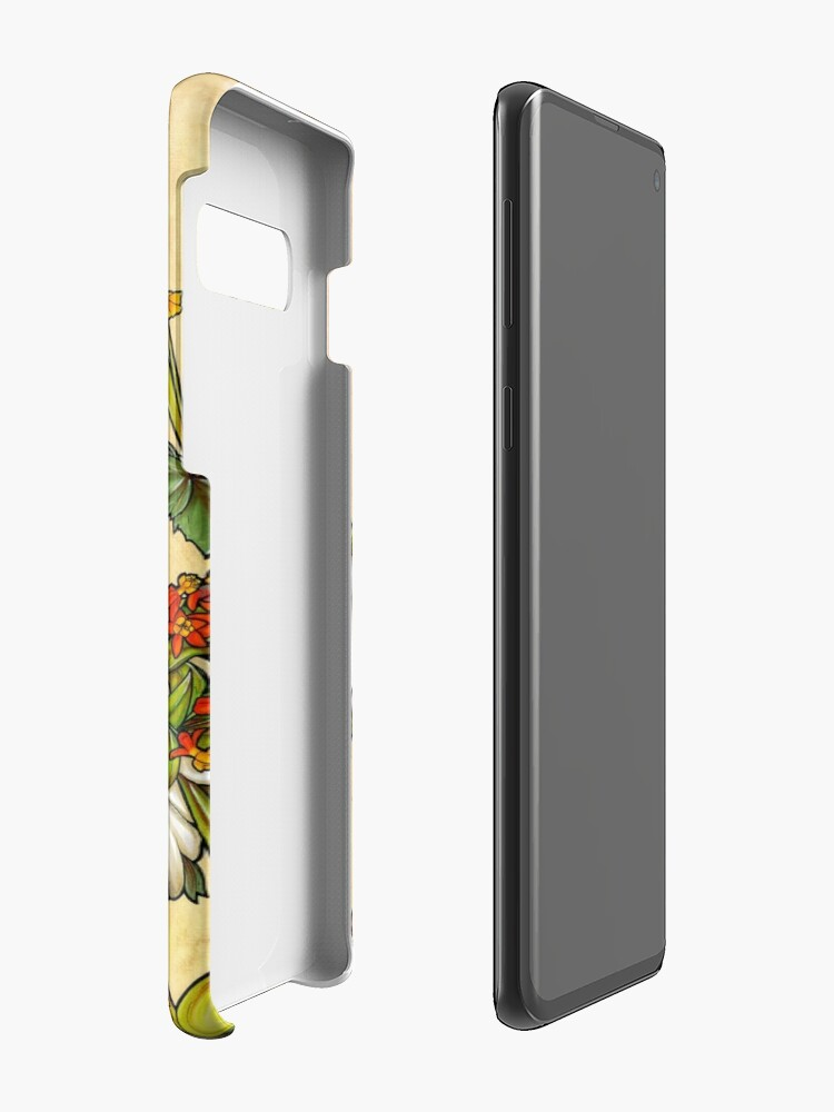 Alternate view of Bones and Botany Case & Skin for Samsung Galaxy