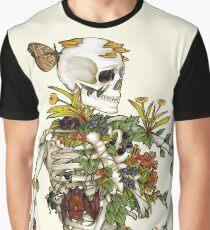 Knochen und Botanik Grafik T-Shirt