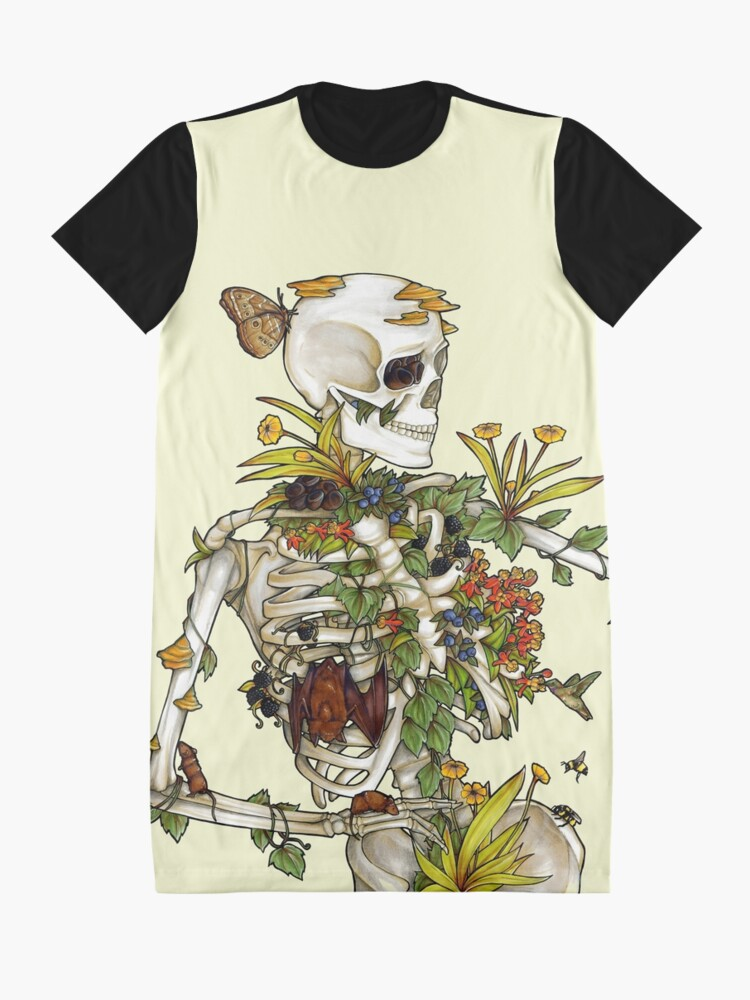 Alternate view of Bones and Botany Graphic T-Shirt Dress