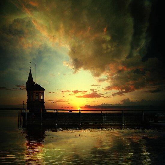 Sunset on the Lake by Yuliya Art