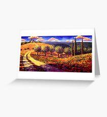 Tuscany Olive Grove Road Home Greeting Card