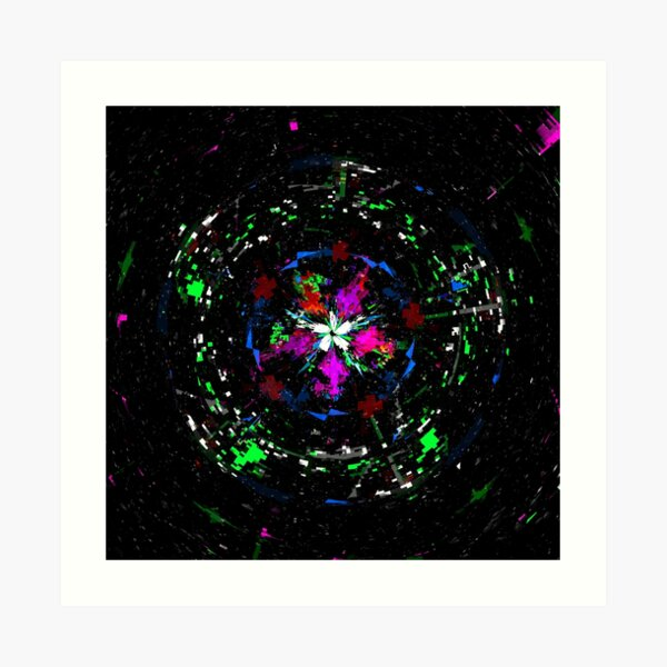 Glitch Flower Art Print