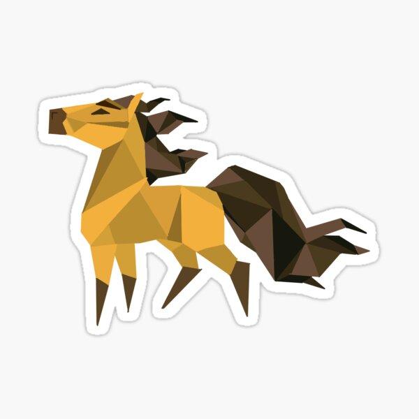 Spirit stallion of the cimarron-low poly sticker(Spirit) Sticker