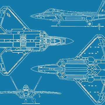 F-22 Concept Blueprints by DarkHorseDesign