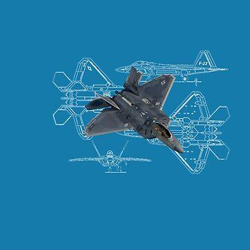 F-22 Blueprints 2.0 by DarkHorseDesign