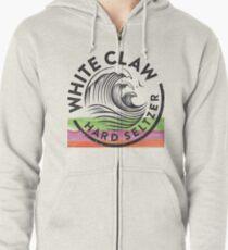 Weiße Klaue Hoodie mit Reißverschluss