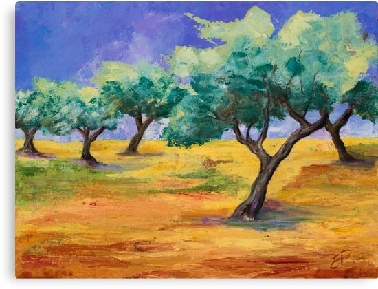 Olive Trees Grove by Elise Palmigiani
