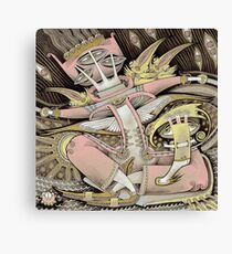 Pink in a Boat Canvas Print
