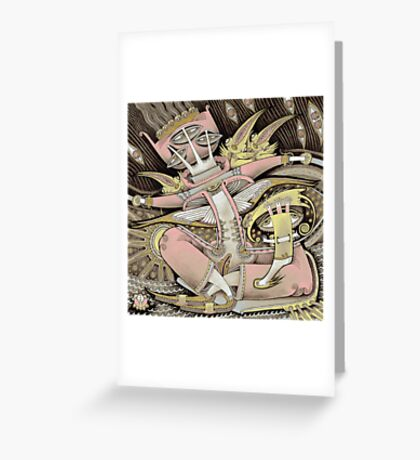 Pink in a Boat Greeting Card