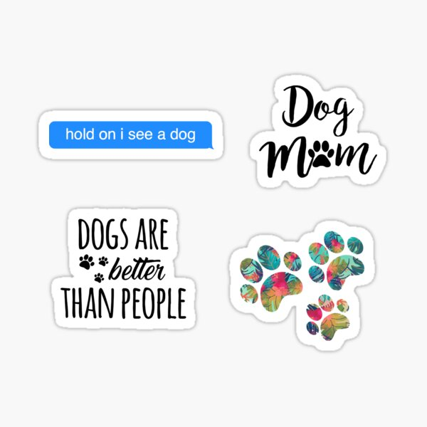 Paquete de perro Pegatina