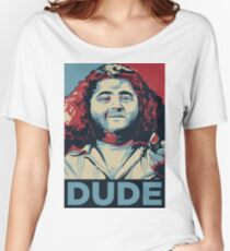 DUDE, It's Hurley Reyes from the TV show LOST Women's Relaxed Fit T-Shirt