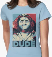 DUDE, It's Hurley Reyes from the TV show LOST Womens Fitted T-Shirt