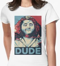 DUDE, It's Hurley Reyes from the TV show LOST Women's Fitted T-Shirt