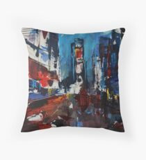 Times Square by Night Throw Pillow