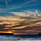 Sunset at Rapahoe Beach by Mike Johnson