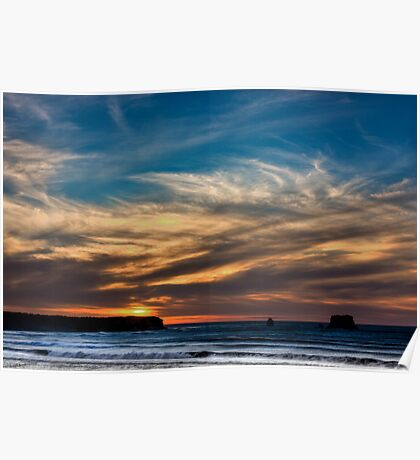 Sunset at Rapahoe Beach Poster