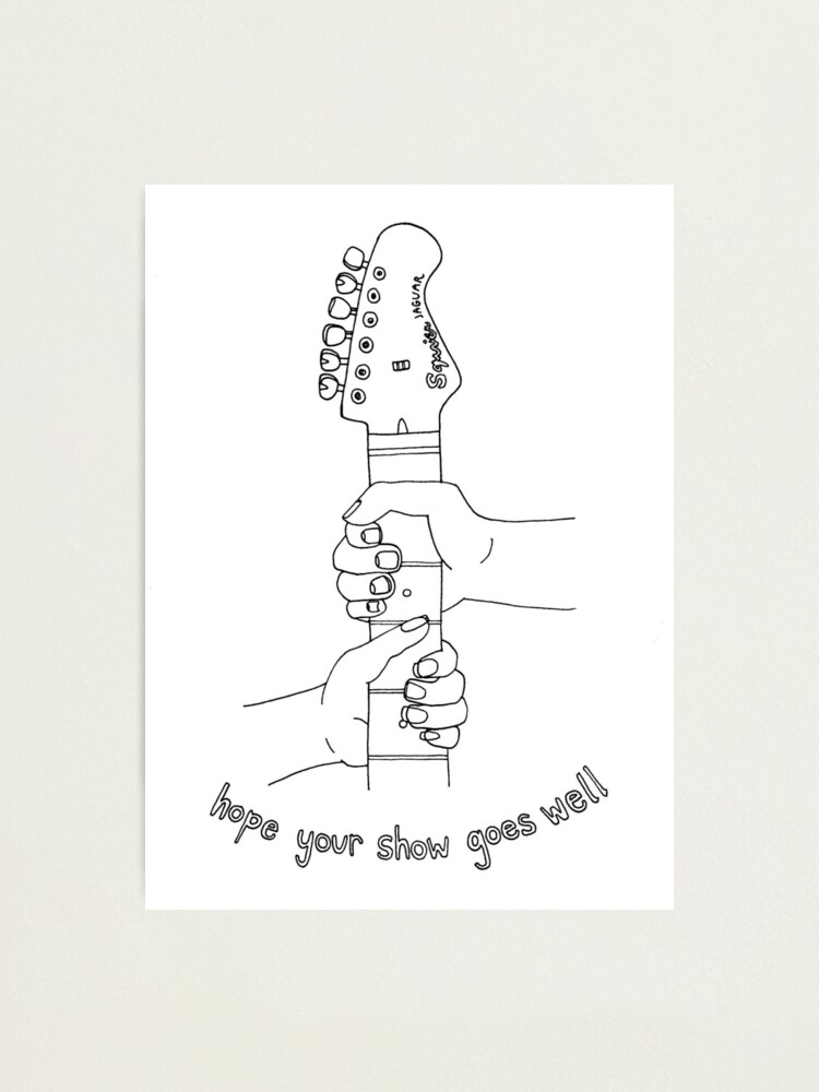 Alternate view of Hope your show goes well | punk rock affirmations Photographic Print