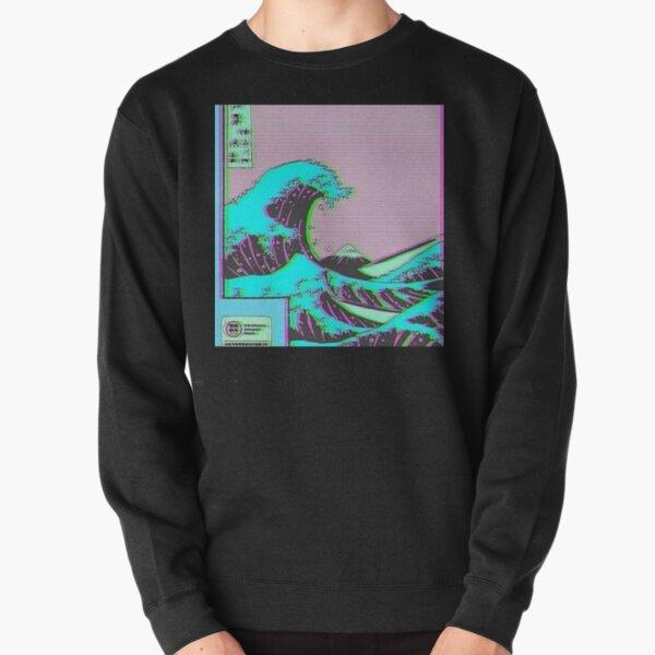 La Grande Vague de Vaporwave Kanagawa Sweatshirt épais