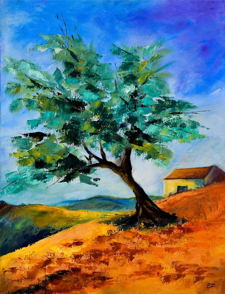 Olive Tree on the Hill by Elise Palmigiani