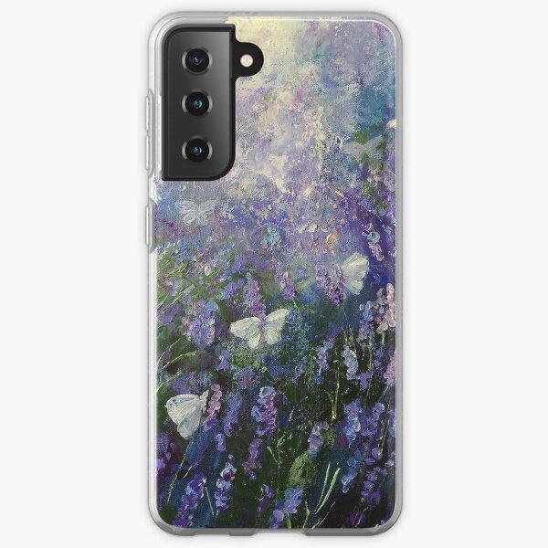 Butterflies on Lavender Samsung Galaxy Soft Case