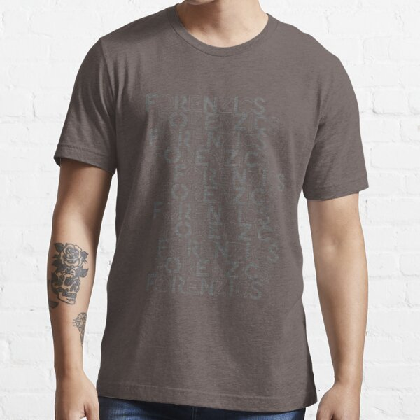 Forenzics - Repetitive Type Grey Essential T-Shirt