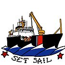 Coast Guard Buoytender Set Sail by AlwaysReadyCltv