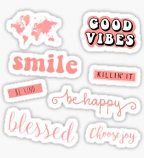 Coral Pink Pack Sticker