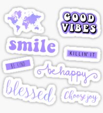 Pastell Purple Pack Sticker