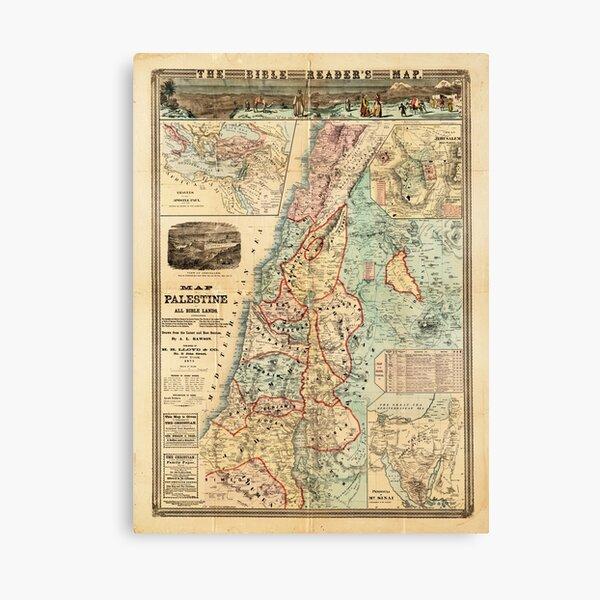 Mapa de Palestina y todas las tierras bíblicas Lienzo