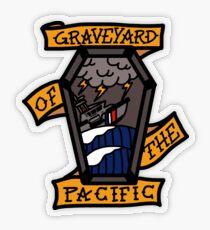Coast Guard Graveyard of the Pacific Transparent Sticker