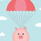 Baby Pig in a Parachute by QueenieLamb