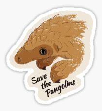 Speichern Sie die Pangolins - Baby Pangolin Sticker