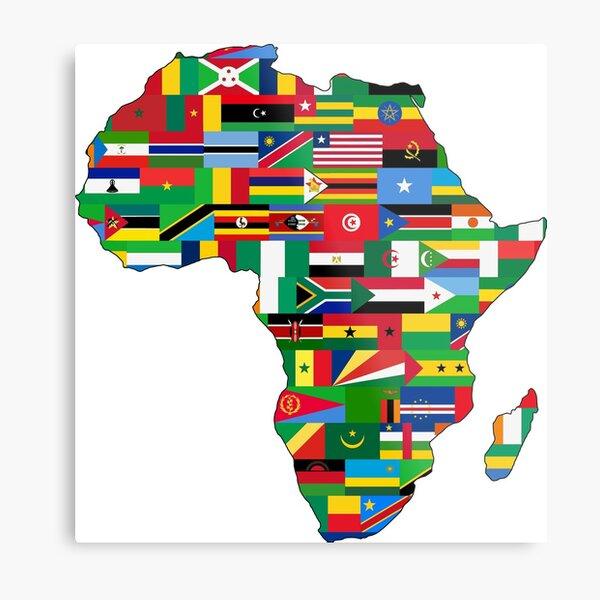 Africa Flags Metal Print